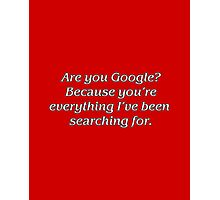 Google Search Photographic Print