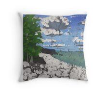 Bruce Peninsula Rocky Shore Throw Pillow