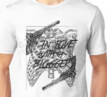In love with a blogger (BLACK) Unisex T-Shirt
