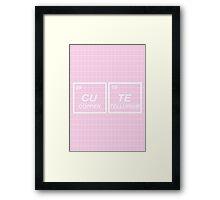 Chemical Cute Framed Print