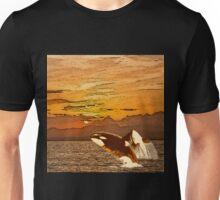 Sunset Whales Unisex T-Shirt