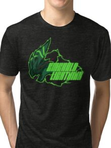 Monster Hunter All Stars - Emerald Lightning Tri-blend T-Shirt
