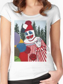 Pogo The Clown Women's Fitted Scoop T-Shirt