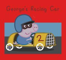 George's Racing Car - Peppa Pig One Piece - Short Sleeve