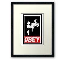 obey jj Framed Print