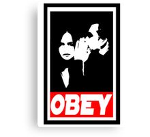 obey jj Canvas Print