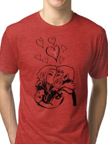 Scott Pilgrim and Ramona Flowers Tri-blend T-Shirt
