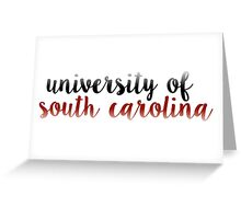 University of South Carolina - USC Greeting Card
