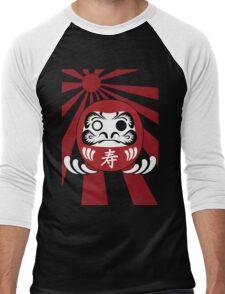 Daruma, Minimalist Style Men's Baseball ¾ T-Shirt