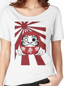 Daruma, Minimalist Style Women's Relaxed Fit T-Shirt