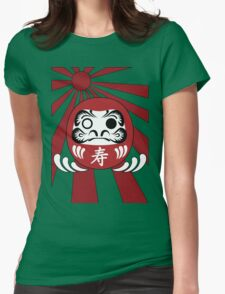 Daruma, Minimalist Style Womens Fitted T-Shirt