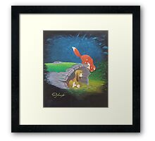Fox and the Hound Framed Print