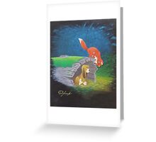 Fox and the Hound Greeting Card