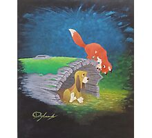 Fox and the Hound Photographic Print