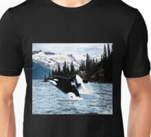 Leaping Whales Unisex T-Shirt