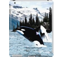 Leaping Whales iPad Case/Skin