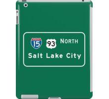Salt Lake City, Road Sign, Utah iPad Case/Skin