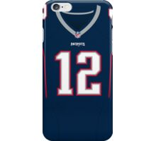 New England Patriots Tom Brady Color Jersey iPhone Case/Skin