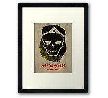 Justice Skulls - The Wonder Framed Print