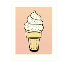 Ice Cream With Sprinkles Art Print