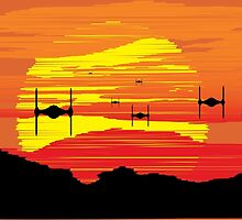 TIE Fighters Incoming by Rene Flores