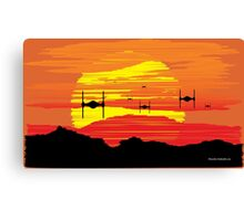 TIE Fighters Incoming Canvas Print