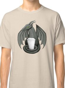 Black Dragon with Latte Classic T-Shirt