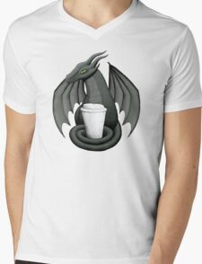 Black Dragon with Latte Mens V-Neck T-Shirt