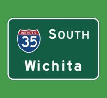 Wichita, Highway Sign, Kansas One Piece - Short Sleeve