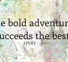 Adventure travel quote Sticker