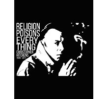Christopher Hitchens - Religion Photographic Print