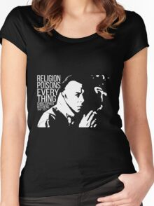 Christopher Hitchens - Religion Women's Fitted Scoop T-Shirt
