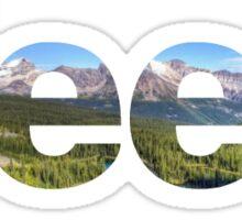 Jeep Mountain Logo Sticker
