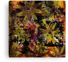 Flower in Black Square 18- Digitally Altered Print  Canvas Print