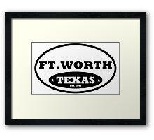 Ft Worth Framed Print