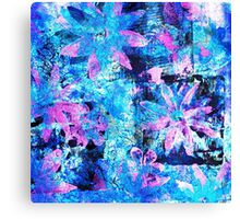 Flower in Black Square 11- Digitally Altered Print  Canvas Print