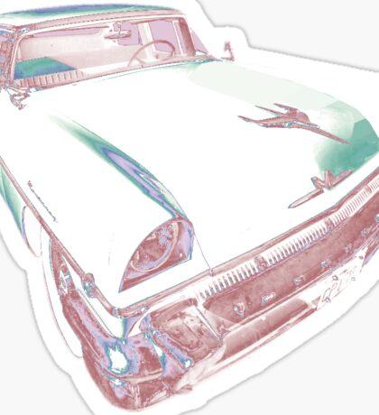 1956 Mercury Monterey SPORTS SEDAN RED WHITE Sticker
