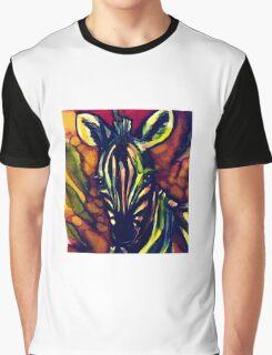 Rainbow zebra Graphic T-Shirt