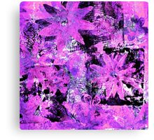 Flower in Black Square 9 - Digitally Altered Print  Canvas Print