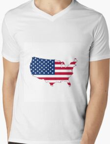 USA Mens V-Neck T-Shirt