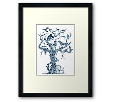 Floral Fairy Tale Tree Framed Print