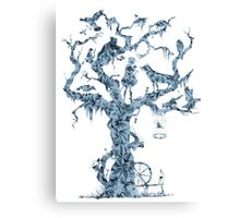 Floral Fairy Tale Tree Canvas Print