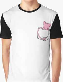 Mew Sleeping in Pocket Graphic T-Shirt