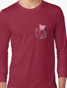 Mew Sleeping in Pocket Long Sleeve T-Shirt
