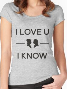 Star Wars - I Love You, I Know (Black) Women's Fitted Scoop T-Shirt