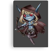 Tiny Queen of the Undead Canvas Print