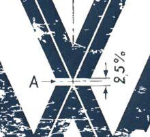 VW Old School Logo Sticker