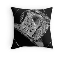 Hatters Hat - We're all mad here Throw Pillow
