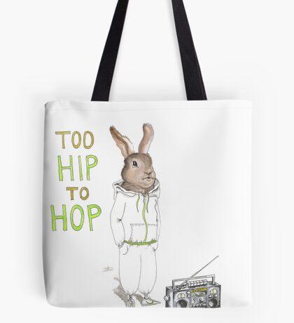 Too Hip to Hop - Hipster bunny, hip hop bunny, rabbit art, bunny watercolor, rap art Tote Bag