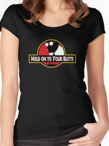 Hold on to Your Butts Women's Fitted Scoop T-Shirt